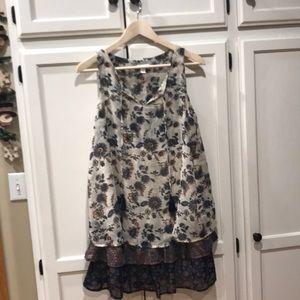 Xhiliration Lined Dress Womens Medium